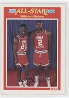 Dominique Wilkins, Moses Malone