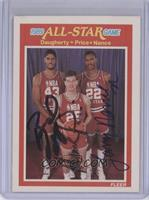 Mark Price, Larry Nance, Brad Daugherty [JSA Certified Auto]