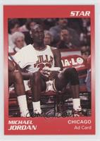 Michael Jordan (Red Border Jordan Sitting)