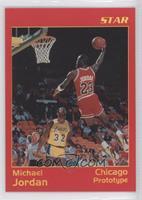 Michael Jordan Red Border/Yellow Type