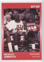 Michael Jordan Red Border Jordan Sitting