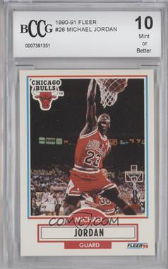 1990-91 Fleer #26 - Michael Jordan [ENCASED]