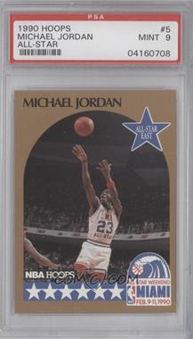 1990-91 NBA Hoops - [Base] #5 - Michael Jordan [PSA9]