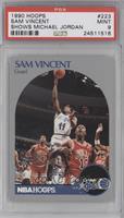 Sam Vincent, Michael Jordan (Michael wearing #12 Jersey) [PSA9]