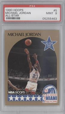 1990-91 NBA Hoops #5 - Michael Jordan [PSA 9]