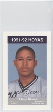 1991-92 Coca-Cola Georgetown Hoyas Kids & Cops Police - [Base] #15 - Irvin Church