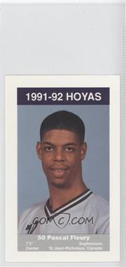 1991-92 Coca-Cola Georgetown Hoyas Kids & Cops Police [???] #N/A - [Missing]