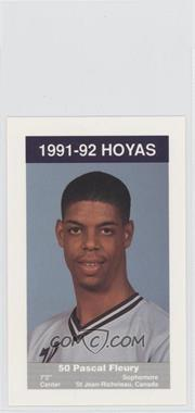 1991-92 Coca-Cola Georgetown Hoyas Kids & Cops Police #8 - Pascal Fleury
