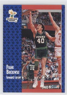 1991-92 Fleer Tony's Pizza - [Base] #S-6 - Frank Brickowski