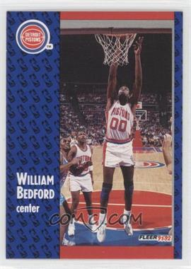 1991-92 Fleer #278 - William Bedford