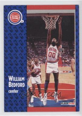 1991-92 Fleer #278 - William Bedford