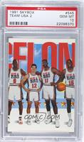 Team USA (Michael Jordan, John Stockton, Karl Malone, Magic Johnson) [PSA …
