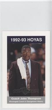 1992-93 Coca-Cola Georgetown Hoyas Kids & Cops Police - [Base] #N/A - John Thompson