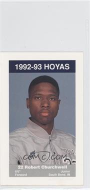 1992-93 Coca-Cola Georgetown Hoyas Kids & Cops Police - [Base] #N/A - Robert Churchwell