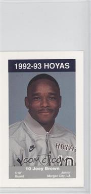 1992-93 Coca-Cola Georgetown Hoyas Kids & Cops Police #10 - Joey Brown