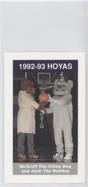 1992-93 Coca-Cola Georgetown Hoyas Kids & Cops Police #16 - McGruff the Crime Dog and Jack the Bulldog