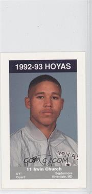 1992-93 Coca-Cola Georgetown Hoyas Kids & Cops Police #9 - Irvin Church
