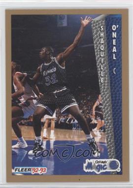 1992-93 Fleer Drake's #37 - Shaquille O'Neal