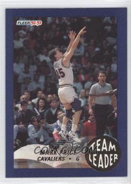 1992-93 Fleer Team Leaders #5 - Mark Price