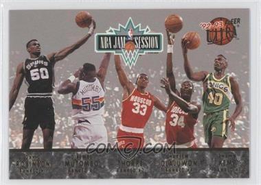 1992-93 Fleer Ultra - NBA Jam Session #N/A - David Robinson, Dikembe Mutombo, Otis Thorpe, Hakeem Olajuwon, Shawn Kemp, Charles Barkley, Pervis Ellison, Chris Morris, Brad Daugherty, Derrick Coleman