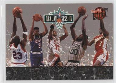 1992-93 Fleer Ultra - NBA Jam Session #N/A - Tim Perry, Duane Causwell, Scottie Pippen, Robert Parish, Stacey Augmon, Michael Jordan, Karl Malone, John Williams, Horace Grant, Orlando Woolridge