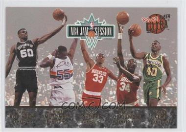 1992-93 Fleer Ultra NBA Jam Session #N/A - David Robinson, Dikembe Mutombo, Otis Thorpe, Hakeem Olajuwon, Shawn Kemp, Charles Barkley, Pervis Ellison, Chris Morris, Brad Daugherty, Derrick Coleman