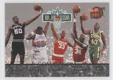1992-93 Fleer Ultra NBA Jam Session #N/A - David Robinson, Dikembe Mutombo, Otis Thorpe, Hakeem Olajuwon, Shawn Kemp, Charles Barkley, Pervis Ellison, Chris Morris, Brad Daugherty, Derrick Coleman