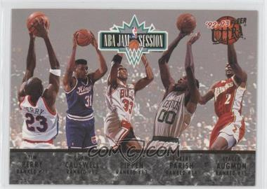 1992-93 Fleer Ultra NBA Jam Session #N/A - Tim Perry, Duane Causwell, Scottie Pippen, Robert Parish, Stacey Augmon, Michael Jordan, Karl Malone, John Williams, Horace Grant, Orlando Woolridge