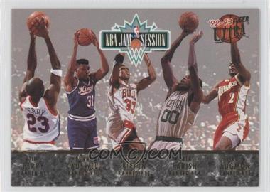 1992-93 Fleer Ultra NBA Jam Session #N/A - Tim Perry, Duane Causwell, Scottie Pippen, Robert Parish, Stacey Augmon, Michael Jordan, Karl Malone, John Williams, Horace Grant, Orlando Woolridge