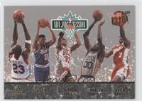 Tim Perry, Duane Causwell, Scottie Pippen, Robert Parish, Stacey Augmon, Michae…