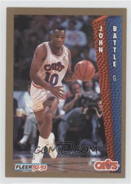 1992-93 Fleer #38 - John Battle