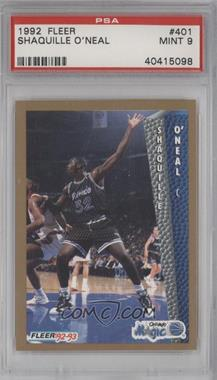 1992-93 Fleer #401 - Shaquille O'Neal [PSA9]