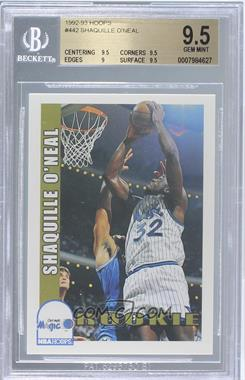 1992-93 NBA Hoops - [Base] #442 - Shaquille O'Neal [BGS 9.5]