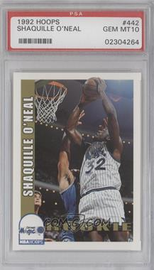 1992-93 NBA Hoops - [Base] #442 - Shaquille O'Neal [PSA 10]