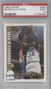 1992-93 NBA Hoops - [Base] #442 - Shaquille O'Neal [PSA 9]