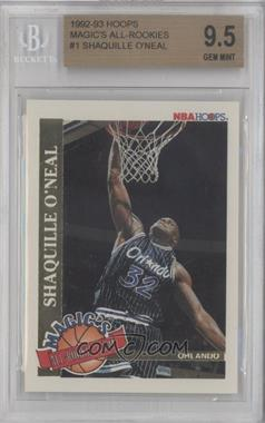 1992-93 NBA Hoops - Magic's All-Rookie Team #1 - Shaquille O'Neal [BGS9.5]