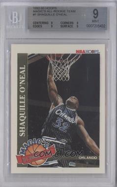 1992-93 NBA Hoops Magic's All-Rookie Team #1 - Shaquille O'Neal [BGS9]