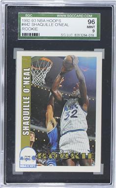 1992-93 NBA Hoops #442 - Shaquille O'Neal [SGC96]