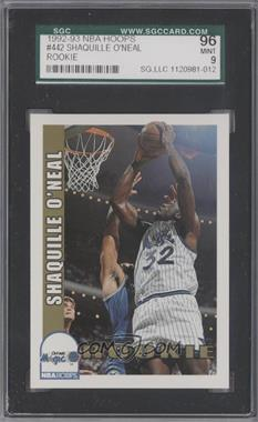 1992-93 NBA Hoops #442 - Shaquille O'Neal [SGC 96]