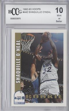 1992-93 NBA Hoops #442 - Shaquille O'Neal [ENCASED]