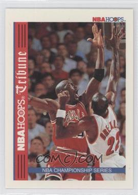 1992-93 NBA Hoops #TR1 - NBA Hoops Tribune Championship Series (Michael Jordan, Clyde Drexler)