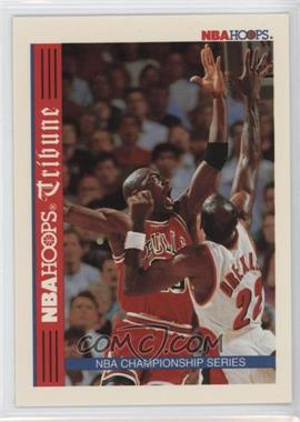 1992-93 NBA Hoops #TR1 - NBA Hoops Tribune Championship Series (Michael Jordan, Clyde Drexler)