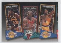 James Worthy, Michael Jordan, Sam Perkins