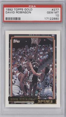 1992-93 Topps - [Base] - Gold #277 - David Robinson [PSA 10]
