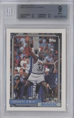 1992-93 Topps - [Base] #362 - Shaquille O'Neal [BGS9]