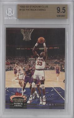 1992-93 Topps Stadium Club - [Base] #100 - Patrick Ewing [BGS9.5]