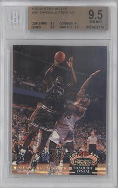 1992-93 Topps Stadium Club - [Base] #201 - Shaquille O'Neal [BGS9.5]