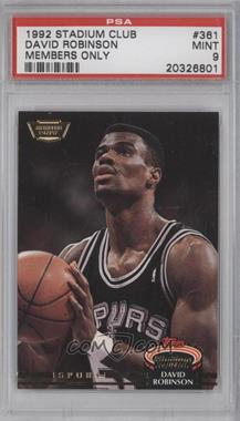 1992-93 Topps Stadium Club Members Only #361 - David Robinson [PSA 9]