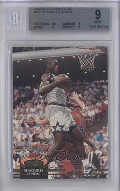 1992-93 Topps Stadium Club #247 - Shaquille O'Neal [BGS 9]