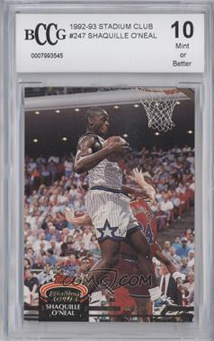 1992-93 Topps Stadium Club #247 - Shaquille O'Neal [ENCASED]